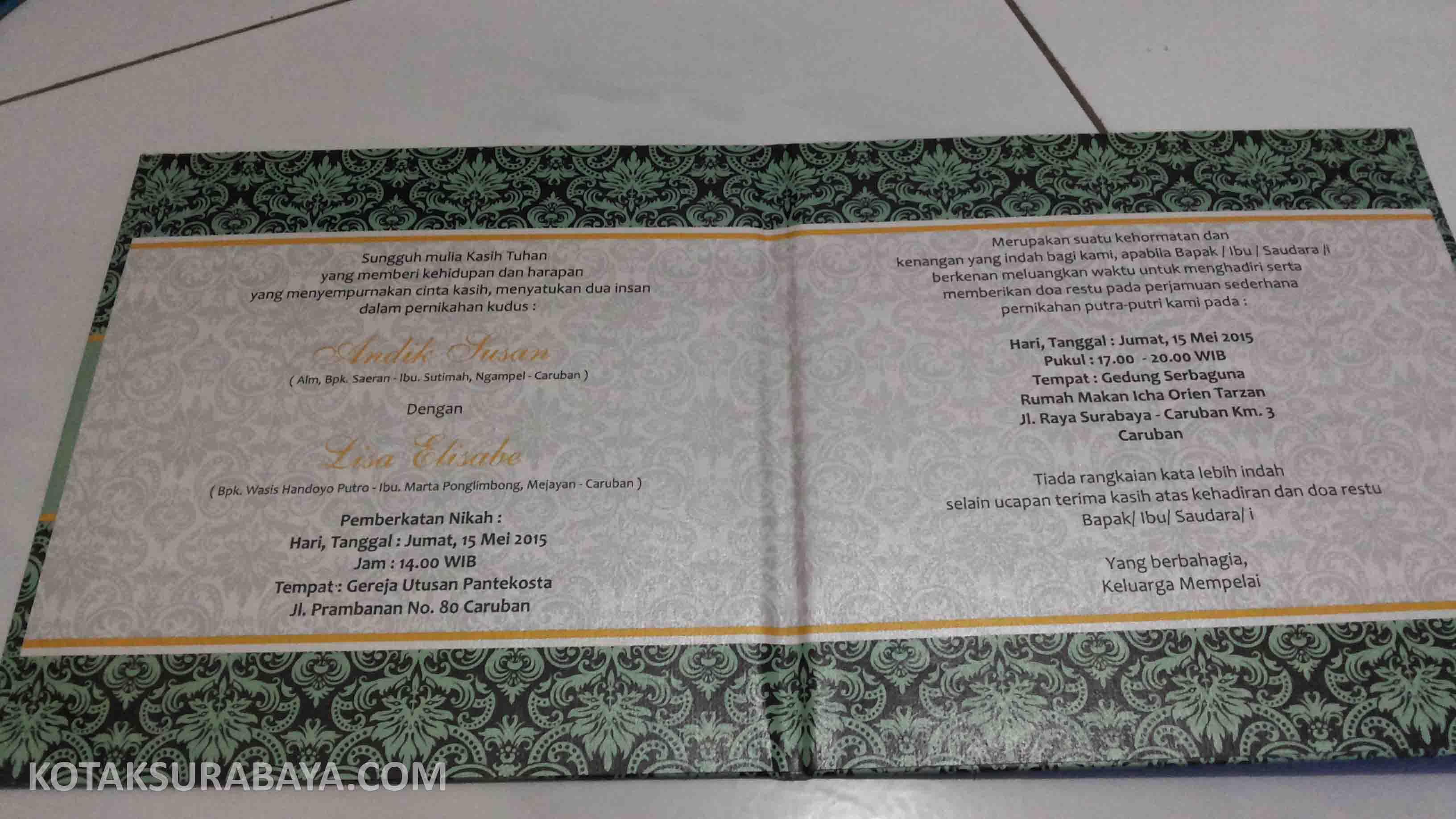 undangan pernikahan surabaya | kotaksurabaya